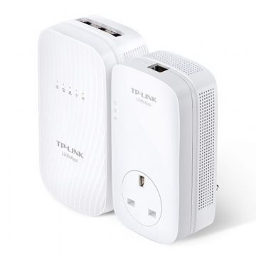 TP-LINK (TL-WPA8730 KIT) AC1750 Wireless Dual Band Powerline Adapter Kit